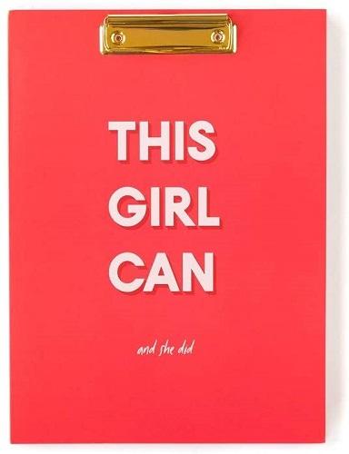 Girl Power Refillable Clipboard Folio