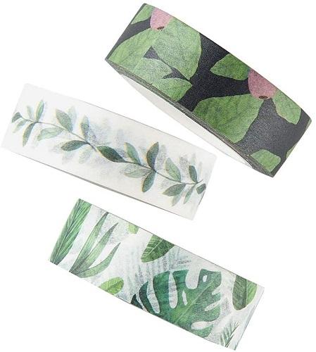 Green Leaves Washi Tape Set