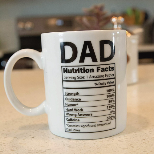 Father Nutritional Label Fact Mug