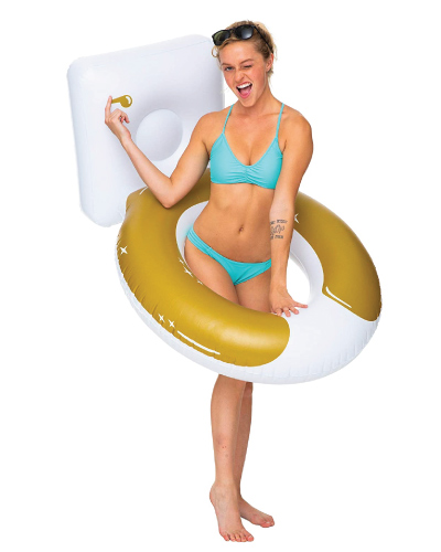 Golden Toilet Pool Float
