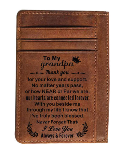 Grandpa Engraved Wallet