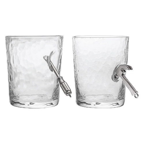 Hammer Screwdriver Handyman Drinking Glass