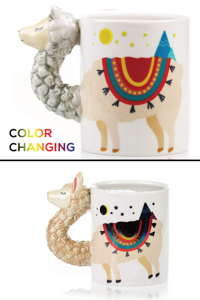Color Changing Llama Mug