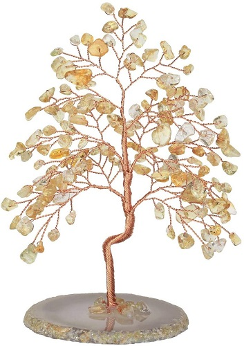 Citrine Healing Crystals Copper Money Tree