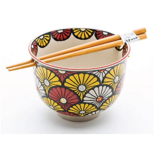 Chrysanthemum Pattern Noodle Bowl