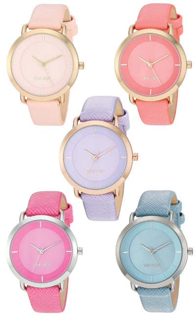Nine West Women's Vegan Leather Strap Watch