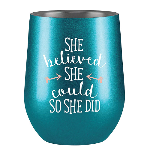 Motivational Wine Tumbler