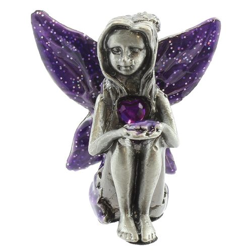 Viceni Birthday Collection Pewter Birthstone Fairy