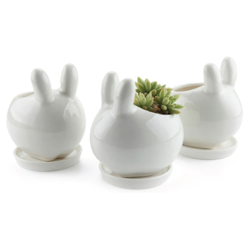 White Rabbit Planter Pot