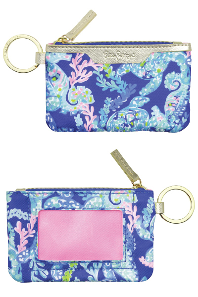 Lilly Pulitzer ID Case Keychain Wallet