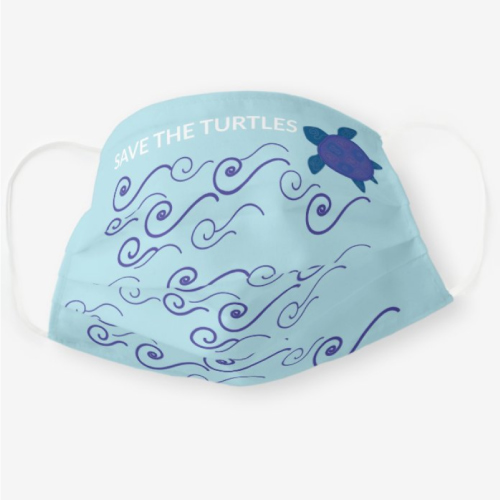 Save The Turtles Face Mask
