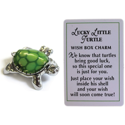 Lucky Little Turtle Wish Box Charm