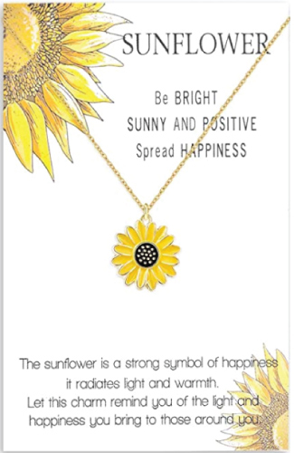 Sunflower Boho Necklace
