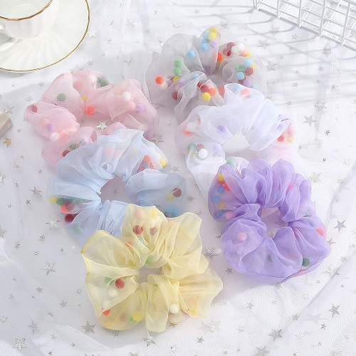 Organza Over-Sized Hair Scrunchies