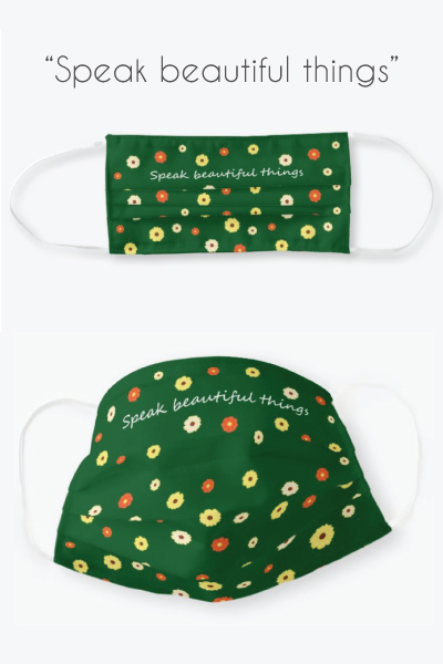 Life Motivation Daisy Floral Face Mask