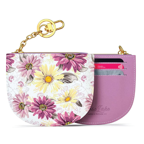 Rose Lake Floral Card Holder Coin Wallet