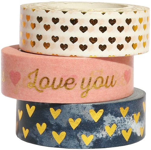 Gold Sweet Heart Washi Tape Set