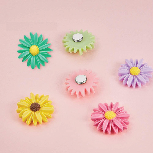 Daisy Flower Refrigerator Magnets