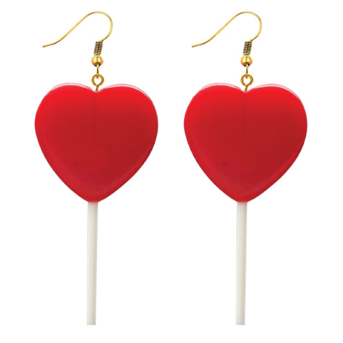 Cute Heart Lollipop Dangle Earrings