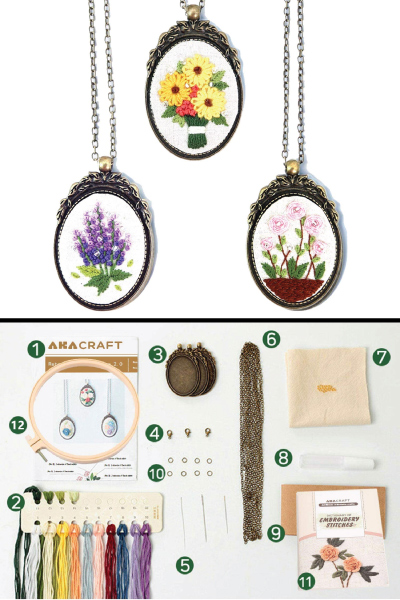Retro Necklace Series Embroidery Starter Kit